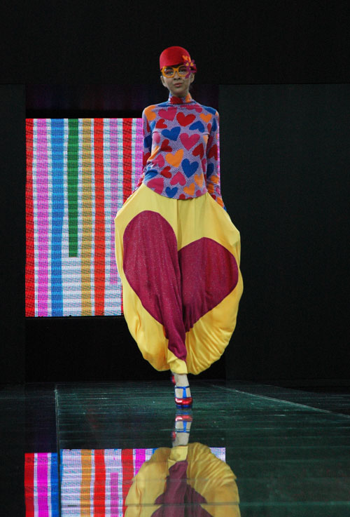 Agatha Ruiz de La Prada at Style.Uz Fashion Week, Uzbekistan.