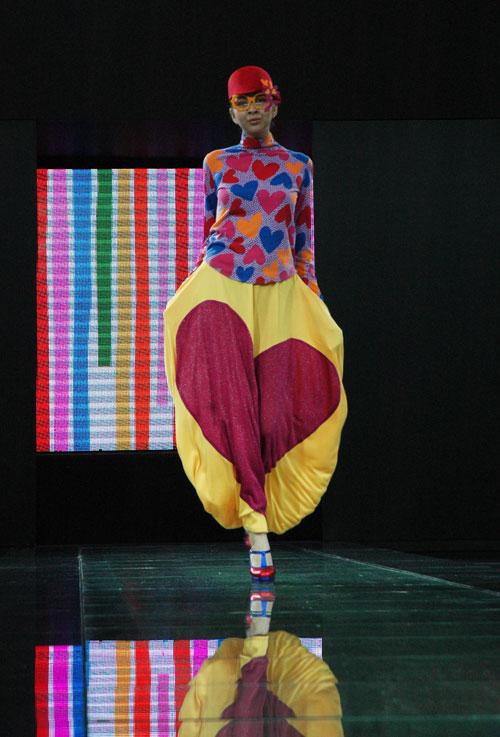 Agatha Ruiz de La Prada at Style.Uz Fashion Week, Uzbekistan.