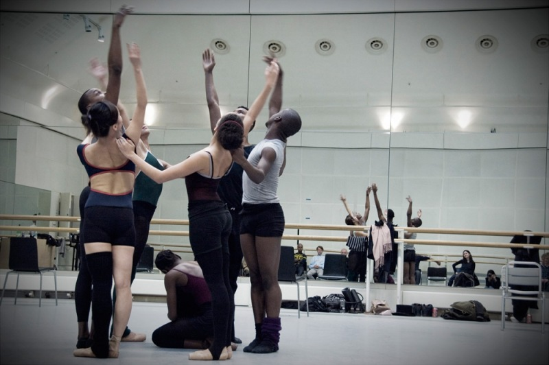 Storyville rehearsal by The Ballet Black company at Royal Opera House.