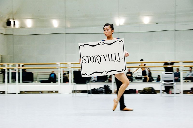 Ballet Black's Sayaka Ichikawa rehearsing for Storyville at Royal Opera House.