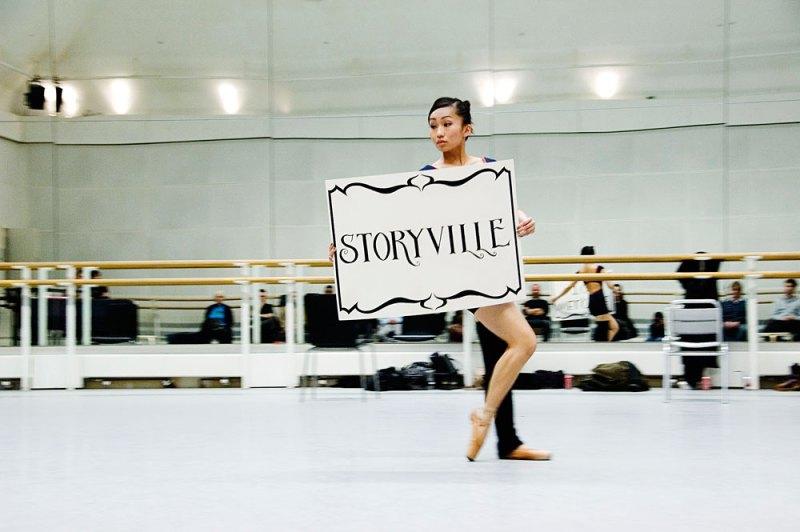 Ballet Black's Sayaka Ichikawa rehearsing for Storyville at Royal Opera House.